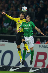 14.10.2011, Weser Stadion, Bremen, GER, 1.FBL, Werder Bremen vs Borussia Dortmund, im Bild.Ivan Perisic (Dortmund #14) vs Sokratis (Bremen #22).// during the Match GER, 1.FBL, Werder Bremen vs Borussia Dortmund on 2011/10/14,  Weser Stadion, Bremen, Germany..EXPA Pictures © 2011, PhotoCredit: EXPA/ nph/  Kokenge       ****** out of GER / CRO  / BEL ******