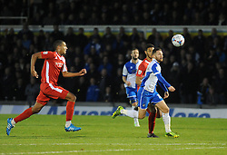 Bristol Rovers' Matty Taylor gets through on goal - Photo mandatory by-line: Neil Brookman/JMP - Mobile: 07966 386802 - 29/11/2014 - SPORT - Football - Bristol - Memorial Stadium - Bristol Rovers v Welling - Vanarama Conference