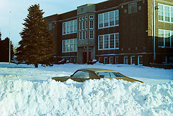 1976-1977 winter at Heyworth Illinois & Vicinity.<br /> Heyworth High School<br /> <br /> Archive slide, negative and print scans.