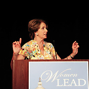Speaker Nancy Pelosi speaks at a DCCC luncheon during the 2012 Democratic National Convention