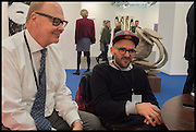 , NICHOLAS LOGSDAIL; RYAN GANDEROpening of Frieze art Fair. London. 14 October 2014