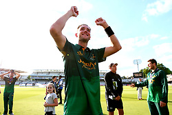 Stuart Broad of Nottinghamshire celebrates winning the Royal London One-Day cup - Mandatory by-line: Robbie Stephenson/JMP - 01/07/2017 - CRICKET - Lord's Cricket Ground - London, United Kingdom - Nottinghamshire v Surrey - Royal London One-Day Cup Final 2017