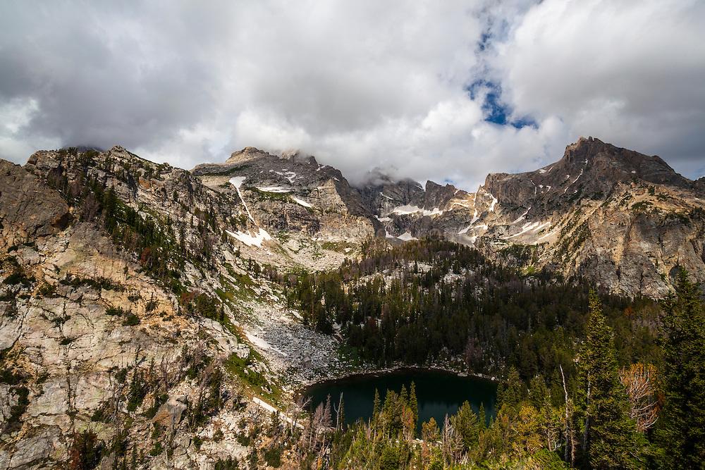 Surprise Lake, near Amphitheatre Lake, 3000m up in Grand Teton National Park