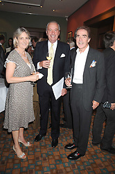 Lef to right, COUNTESS ALEXANDER OF TUNIS, JOHN CHALK and EARL ALEXANDER OF TUNIS at a private view of work by Sacha Newley entitled 'Blessed Curse' in association with the Catto Gallery held at the Arts Club, Dover Street, London W1 on 2nd July 2008.<br /><br />NON EXCLUSIVE - WORLD RIGHTS