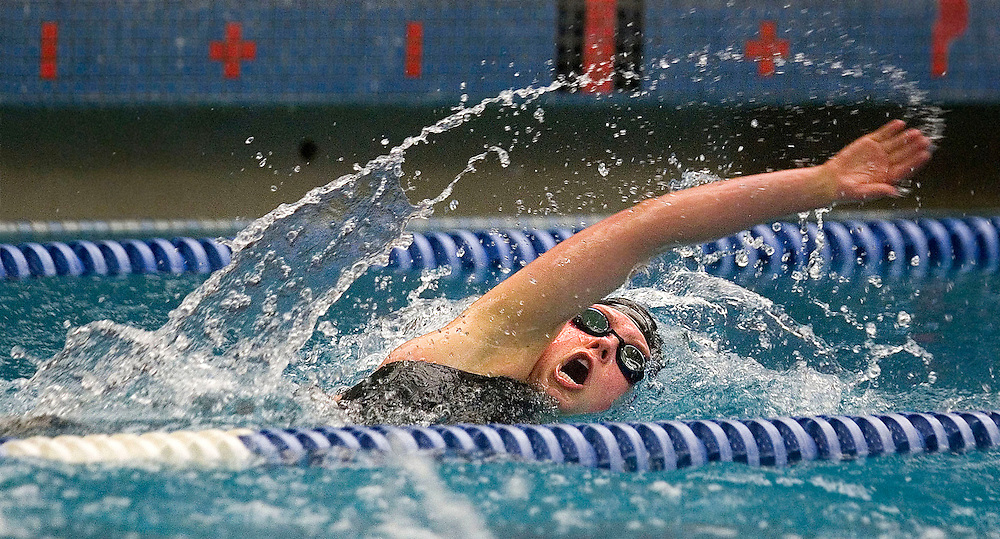 Swimmers compete in the 5A swim championships the Richard's Building at BYU in Provo, Utah Saturday Feb 10, 2007 in Salt Lake City, Utah. August Miller/Deseret Morning News