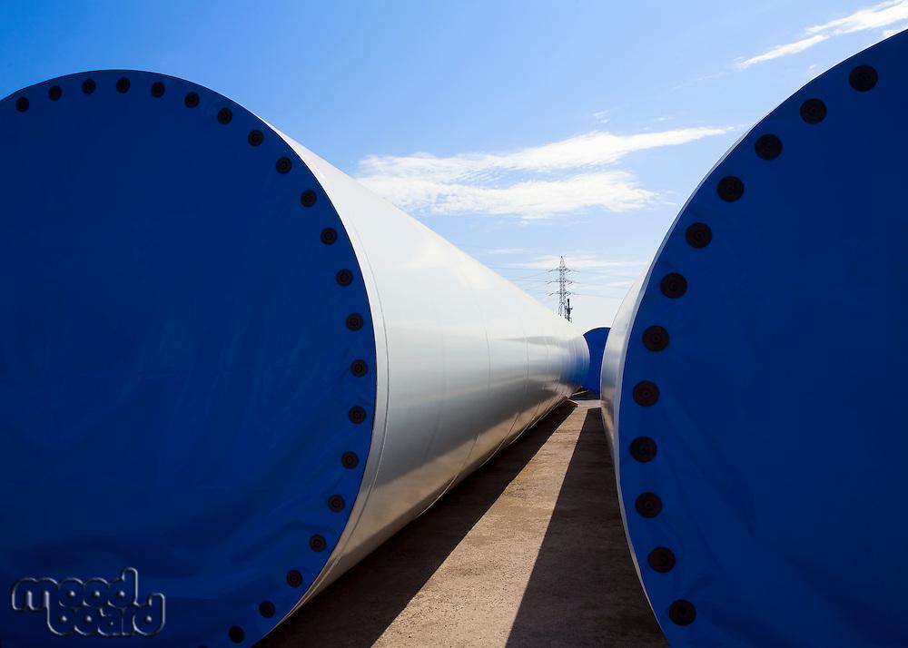Wind turbines in Asturias Spain