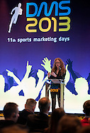 Sally Hancock - former director of Olympic Marketing and sponsorship Lloyds TSB speeks during 11th Sports Marketing Days at Olympic Centre on March 14, 2013 in Warsaw, Poland.<br /> <br /> Poland, Warsaw, March 14, 2013.<br /> <br /> Picture also available in RAW (NEF) or TIFF format on special request.<br /> <br /> For editorial use only. Any commercial or promotional use requires permission.<br /> <br /> Photo by © Adam Nurkiewicz / Mediasport