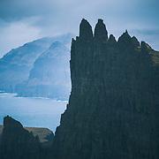 Tindhólmur Island, Sørvágsfjørður fjord, Vágoy,