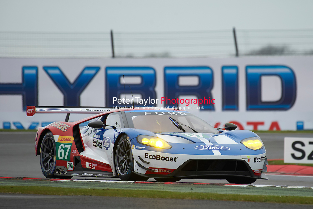 Marino Franchitti (GBR) / Andy Priaulx (GBR) / Harry Tincknell (GBR) #67 Ford Chip Ganassi Racing Team UK Ford GT,  at Silverstone, Towcester, Northamptonshire, United Kingdom. April 15 2016. World Copyright Peter Taylor.