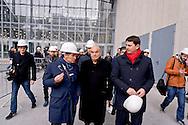 """Roma 22 Dicembre 2015<br /> Presentato lo stato di avanzamento dei lavori del nuovo centro Congressi «La Nuvola» al quartiere EUR, progettato dall'architetto Massimiliano Fuksas. Enrico Pazzali, Amministratore delegato EUR S.p.A, architetto Massimiliano Fuksas,  Roberto Diacetti, Presidente EUR S.p.A<br /> Rome December 22, 2015<br /> Presented the state of progress of the work of the new congress center """"The Cloud"""", at the EUR district, designed by architect Massimiliano Fuksas. Enrico Pazzali, CEO EUR SpA, architect Massimiliano Fuksas, Roberto Diacetti, Chairman EUR SpA."""