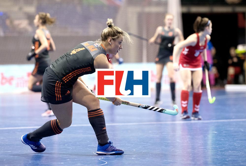 BERLIN - Indoor Hockey World Cup<br /> Women: Netherlands - United States<br /> foto: Lieke van WIjk.<br /> WORLDSPORTPICS COPYRIGHT FRANK UIJLENBROEK
