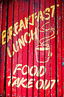 Breakfast / Lunch Food Take-Out Sign, San Francisco, California