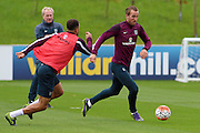England forward Harry Kane runs at goal during the England Training Session at St George's Park National Football Centre, Burton-Upon-Trent, United Kingdom on 7 October 2015. Photo by Aaron Lupton.