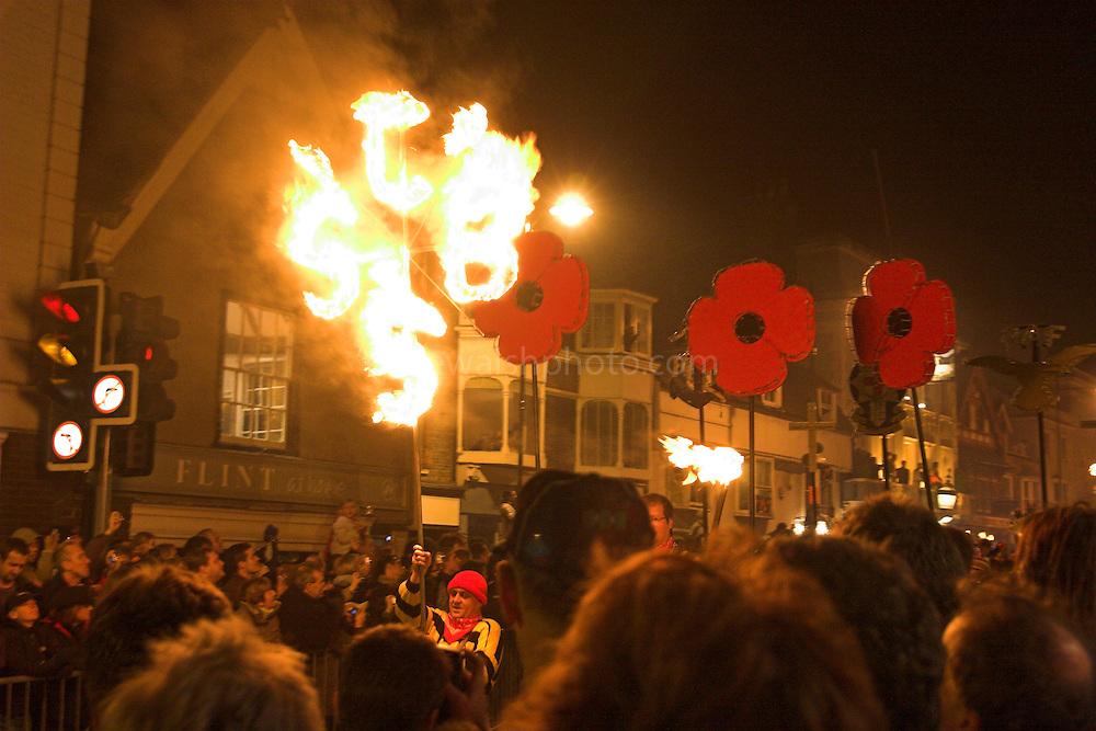 Bonfire Society Standard, Bonfire Parade in Lewes ..5/11/05