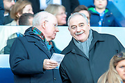 SFA member Rod Petrie (right) in the stand before the Betfred League Cup semi-final match between Heart of Midlothian FC and Celtic FC at the BT Murrayfield Stadium, Edinburgh, Scotland on 28 October 2018.