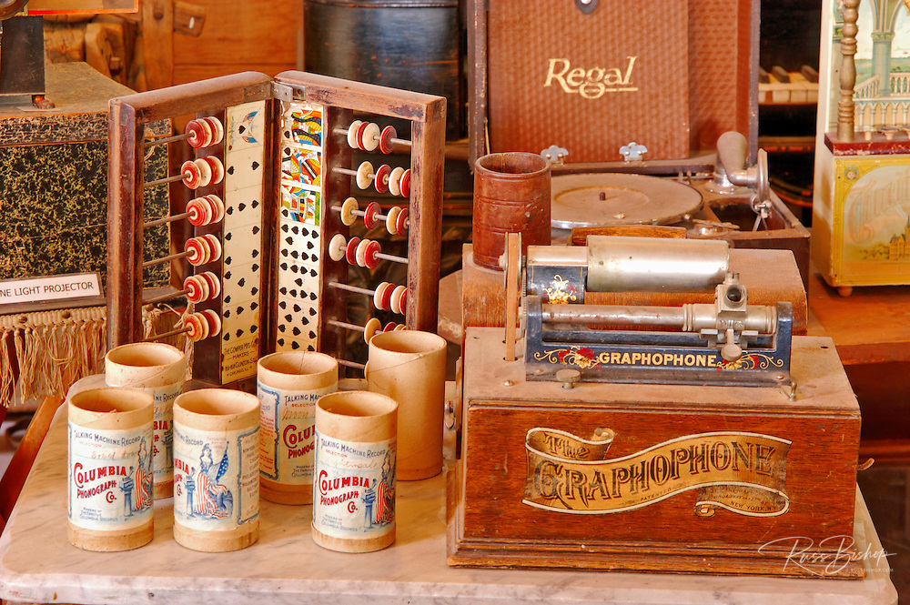 Phonograph and games, Bodie State Historic Park (National Historic Landmark), California