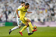 Real Madrid's Spanish defender Nacho Fernandez vies for the ball during the Spanish championship Liga football match between Real Madrid and Villarreal on January 13, 2018 at Santiago Bernabeu stadium in Madrid, Spain - Photo Benjamin Cremel / ProSportsImages / DPPI