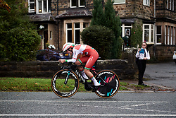Alena Amialiusik (BLR) at UCI Road World Championships 2019 Elite Women's TT a 30.3 km individual time trial from Ripon to Harrogate, United Kingdom on September 24, 2019. Photo by Sean Robinson/velofocus.com