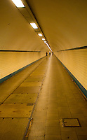 Cycling in the river tunnel in Antwerp, Begium.jpg