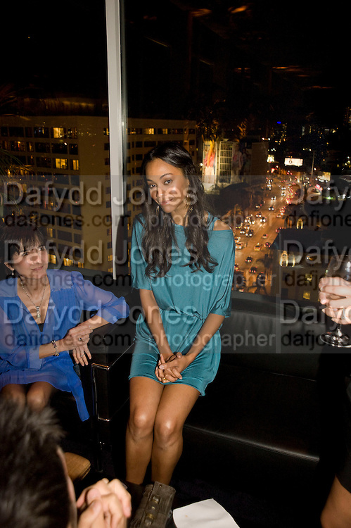 ZOE SALDANA, Vanity fair and Bally's 'Hollywood Domino' party to benefit The Art of Elysium at the Andaz Hotel, Sunset Boulevard. West Hollywood. 20 February 2009 *** Local Caption *** -DO NOT ARCHIVE-© Copyright Photograph by Dafydd Jones. 248 Clapham Rd. London SW9 0PZ. Tel 0207 820 0771. www.dafjones.com.<br /> ZOE SALDANA, Vanity fair and Bally's 'Hollywood Domino' party to benefit The Art of Elysium at the Andaz Hotel, Sunset Boulevard. West Hollywood. 20 February 2009