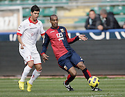 Bari (BA), 13-02-2011 ITALY - Italian Soccer Championship Day 25 - Bari VS Genoa..Pictured: Rivas (BA) Kanko (GE).Photo by Giovanni Marino/OTNPhotos . Obligatory Credit