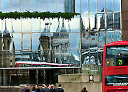 London Bridge, a Red Bus and other reflections in London