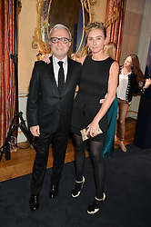 RAFFI & JO MANOUKIAN at an evenig of Jewellery & Photography to launch the Buccellati 'Opera Collection' held at Spencer House, London on 21st October 2015.