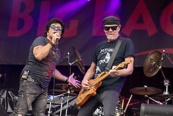 July 1, 2018 - Milwaukee, Wisconsin, U.S - TERRY ILOUS and MARK KENDALL of Great White perform live at Henry Maier Festival Park during Summerfest in Milwaukee, Wisconsin (Credit Image: © Daniel DeSlover via ZUMA Wire)