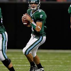 Sep 12, 2009; New Orleans, LA, USA; Tulane Green Wave quarterback Joe Kemp (7) looks to pass against the BYU Cougars at the Louisiana Superdome.  BYU defeated Tulane 54-3. Mandatory Credit: Derick E. Hingle-US PRESSWIRE