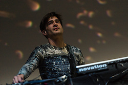 © Licensed to London News Pictures. 18/06/2013. London, UK.   Jon Hopkins performing live at The O2 Arena, supporting headliner Pet Shop Boys.   Jon Hopkins is a London-based produce, musician and Mercury Music Prize nominee who writes and performs his own melodic electronica and dance music. Photo credit : Richard Isaac/LNP