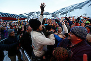 Saturday, March 26, 2016  : Michael Franti of Michael Franti & Spearhead joins his fans to perform at Park City Mountain Resort as part of their Spring Grüv.  Photo by Jeff Swinger/SwingmanPhoto