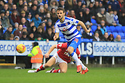 Reading forward Orlando Sa during the Sky Bet Championship match between Reading and Bristol City at the Madejski Stadium, Reading, England on 2 January 2016. Photo by Jemma Phillips.
