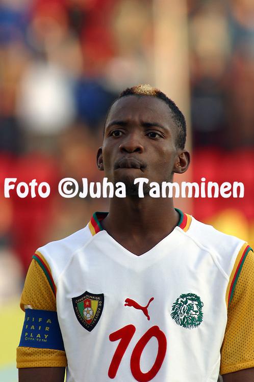 20.08.2003, Ratina Stadium, Tampere, Finland.FIFA U-17 World Championship - Finland 2003.Match 22: Group C - Portugal v Cameroon.Gilbert Momo - Cameroon.©Juha Tamminen