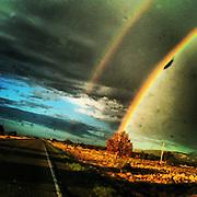 Double Rainbow. Kayenta, Arizona.