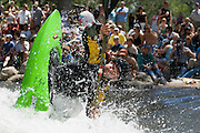 The crowd gathered to watch Ben Guska compete during the finals of the reno riverfest