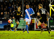 Eastleigh's Kaid Mohamed during the The FA Cup third round match between Eastleigh and Bolton Wanderers at Silverlake Stadium, Ten Acres, Eastleigh, United Kingdom on 9 January 2016. Photo by Graham Hunt.