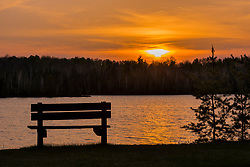 Sunset on Day Lake in Northern Wisconsin.