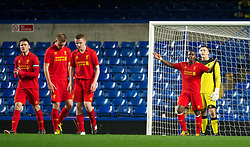 LONDON, ENGLAND - Friday, April 19, 2013: Liverpool's Valany Baio looks dejected as Chelsea score the second goal during the FA Youth Cup Semi-Final 2nd Leg match at Stamford Bridge. (Pic by David Rawcliffe/Propaganda)