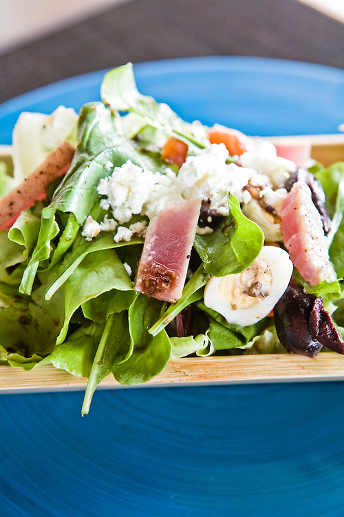 Seared tuna salad.