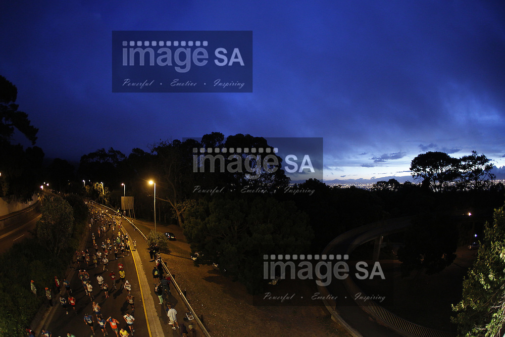 CAPE TOWN, South Africa - Saturday 30 March 2013, Morning during the half marathon of the Old Mutual Two Oceans Marathon. .Photo by Nick Muzik/ ImageSA