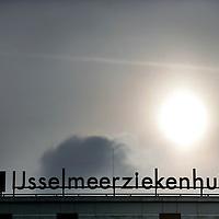 Nederland,Lelystad ,30 oktober 2008..Logo van Zuiderzeeziekenhuis..In de IJsselmeerziekenhuizen in Lelystad en Emmeloord mag voorlopig niet meer worden geopereerd vanwege de 'onverantwoorde en niet veilige situatie' van de luchtkwaliteit van de operatiekamers.