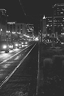 Night scene on Pacific Avenue - Tacoma, WA