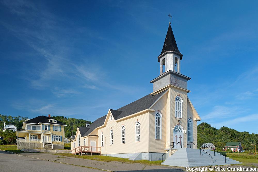 Catholic church<br /> La Martre<br /> Quebec<br /> Canada