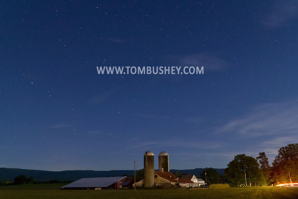 Pine Bush, New York - Starry skies over a farm on Sept. 12, 2014.