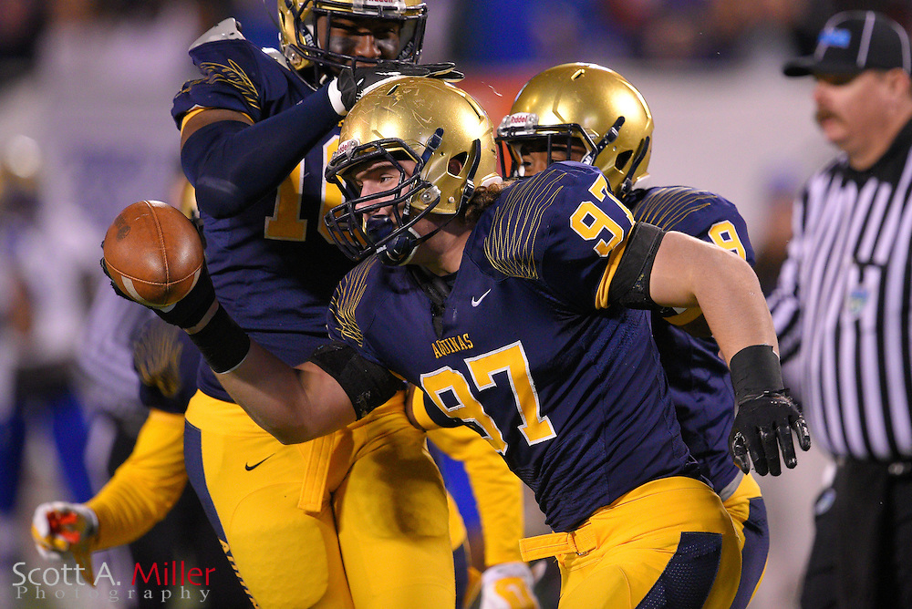 St. Thomas Aquinas defensive lineman Nicholas Bosa (97) during the Florida State High School Class 7A state championship game at the Citrus Bowl on Dec. 12, 2014 in Orlando, Florida.<br /> <br /> &copy;2014 Scott A. Miller