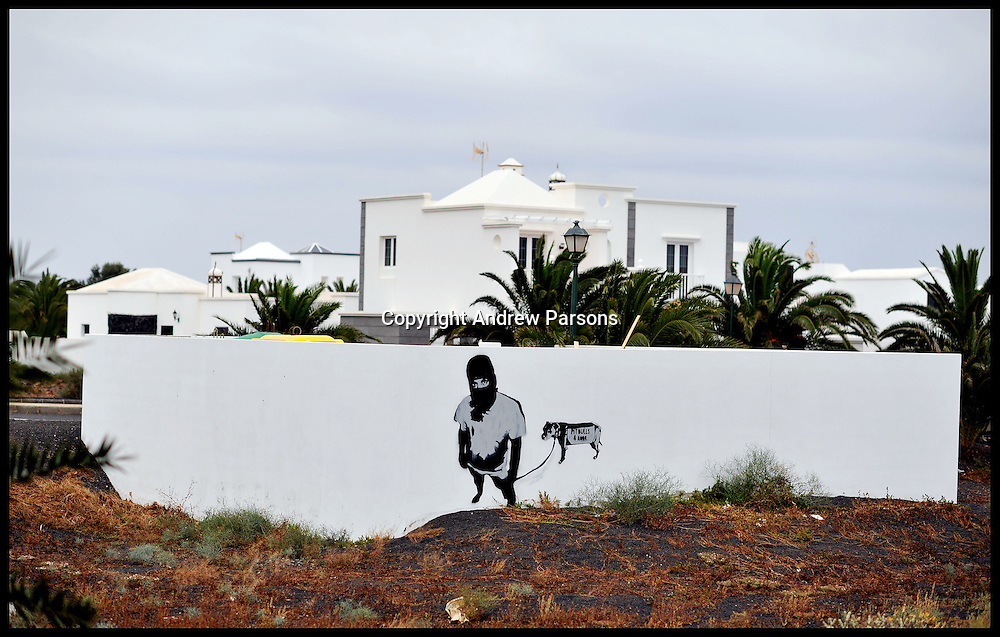 April 25, 2013. File Photo - Bulidings, appartments and hotels left empty and littered with Graffiti and left unfinished as the Recession hits the Spainish economy in Lanzarote in the Canary Island, May 2011. Photo By Andrew Parsons i-Images