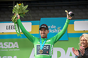 Chris Lawless of Team Ineos on stage for the green jersey for the sprinters classification during stage four of the Tour de Yorkshire from Halifax to Leeds, , United Kingdom on 4 May 2019.