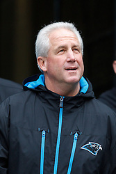 December 5, 2010; Seattle, WA, USA;  Carolina Panthers head coach John Fox enters the field before the game against the Seattle Seahawks at Qwest Field.
