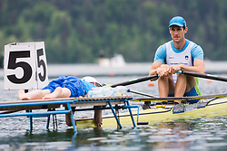Zupan Janez of Slovenia competes during qualifying round  Rowing World Cup on May 9, 2015, at Bled's lake, Bled, Slovenia. (Photo by Grega Valancic / Sportida)
