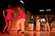 Salsa dancers at the Benny More night club in Holguin, Cuba.